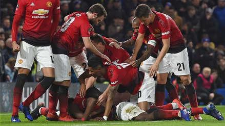 Manchester United venció 2-0 a Chelsea y lo eliminó de la Copa FA