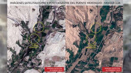 Así se ven desde el espacio los distritos afectados por los huaicos en el sur del país