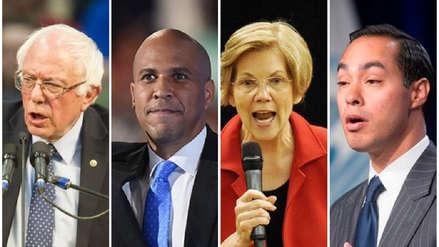 Estos son los candidatos demócratas a la presidencia estadounidense de 2020