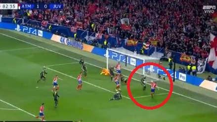 Juventus vs. Atlético de Madrid: Diego Godín anotó pese al intento de despeje de Cristiano Ronaldo