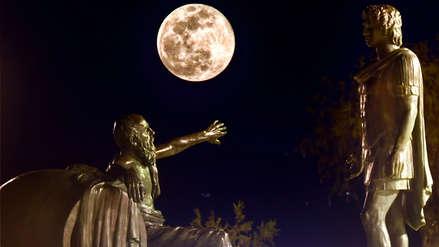 Así se vio en todo el mundo la 'Súper Luna de Nieve', la más brillante en siete años