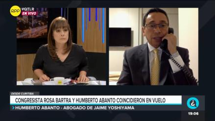 Humberto Abanto aclaró que viaje con Rosa Bartra a Estados Unidos fue por coincidencia
