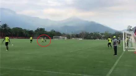 El golazo de Miguel Trauco en los entrenamientos del Flamengo