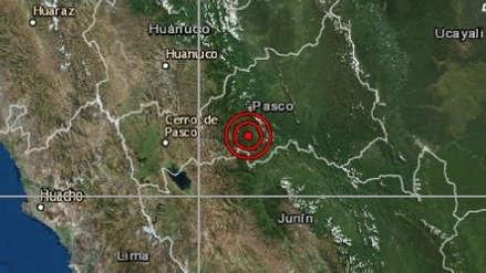 Pasco | Un sismo de magnitud 4.3 sacudió Oxapampa esta madrugada