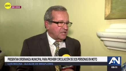 Miraflores presentará proyecto de ley para prohibir la circulación de motos con dos pasajeros en todo el Perú