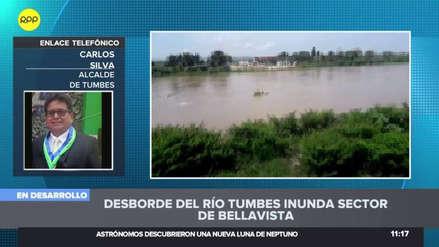 """Alcalde de Tumbes tras desborde del río: """"Hay zonas incomunicadas"""""""