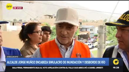 Jorge Muñoz anunció convenio entre Senamhi y Chaclacayo para monitoreo climático