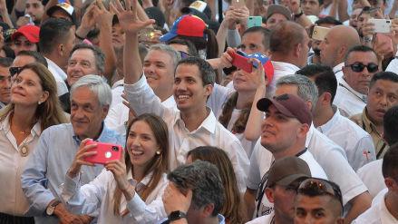 Juan Guaidó cruza frontera y llega al concierto 'Venezuela Aid Live'