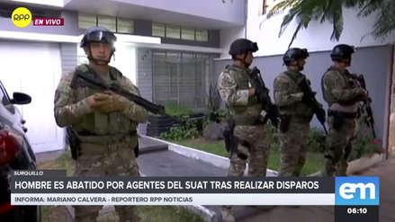 Agentes de la SUAT abatieron a un hombre que realizaba disparos en Surquillo