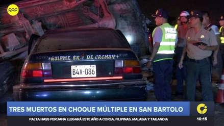 Tres personas murieron en un violento accidente en la Panamericana Sur