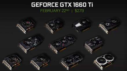 Nvidia anuncia la GTX 1660 Ti, la tarjeta de video sucesora de la GTX 1060
