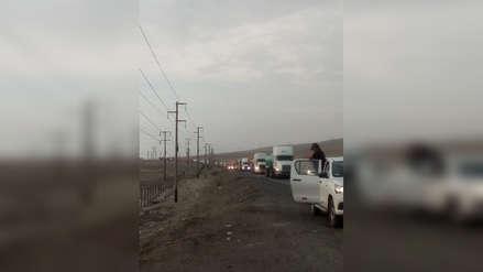 Paro de transportistas: camioneros van a paso lento para generar tráfico en Panamericana Norte