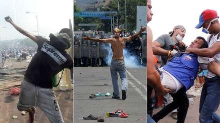 Venezuela | Así son los enfrentamientos con las fuerzas de Maduro por el ingreso de ayuda humanitaria