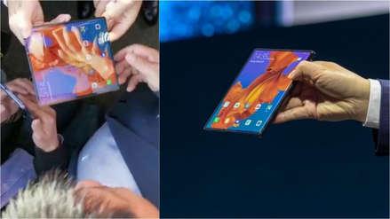 CEO de Huawei salió a la calle a mostrar el funcionamiento del Mate X (Video)