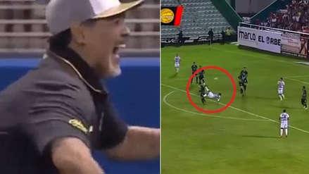 Diego Maradona: jugador de Dorados anotó el golazo del año y así reaccionó el 'Pibe de oro'