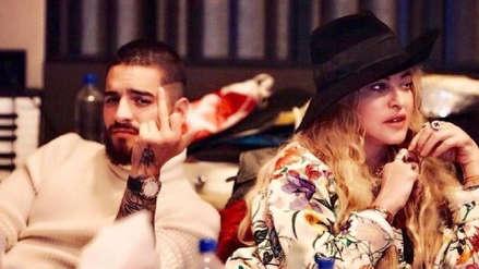 Madonna y Maluma sellaron su colaboración con una fotografía en el estudio