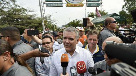 Fotos | Ivan Duque visitó puentes fronterizos con Venezuela para constatar la