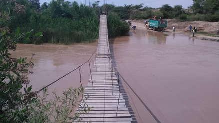 Aumento del caudal del río Zaña causa afectaciones en diferentes distritos de Lambayeque [Fotos]