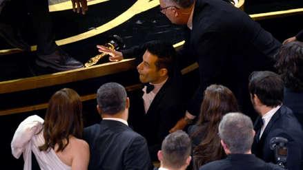 Oscar 2019: Así fue la caída de Rami Malek tras ganar el premio a Mejor Actor