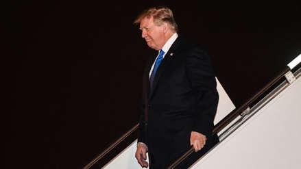 Donald Trump llegó a Hanoi para su cumbre con Kim Jong-un
