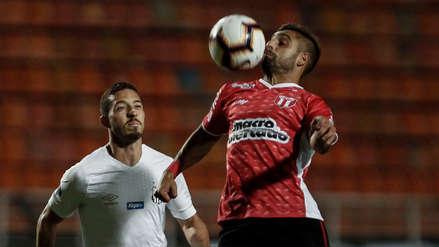 Santos de Christian Cueva empató y quedó eliminado de la Copa Sudamericana