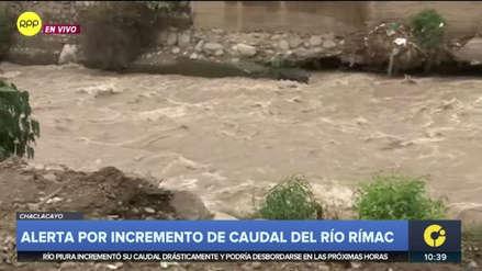 Aumento del caudal del río Rímac causa alarma en Chaclacayo