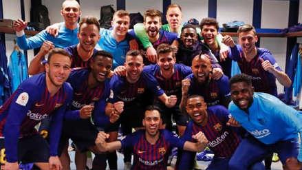 Así festejó Barcelona su victoria ante Real Madrid en el Santiago Bernabéu
