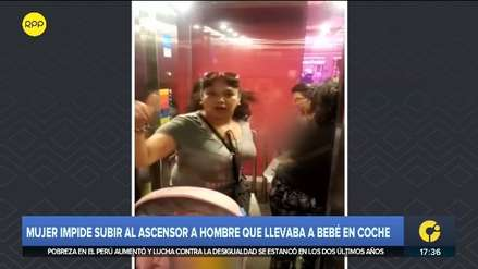 Mujer impidió a un hombre con un bebé en coche subir a ascensor en centro comercial