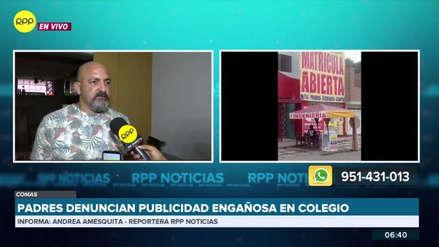 Padres denuncian publicidad engañosa en colegio de Comas y lo acusan de negarles la beca ofrecida