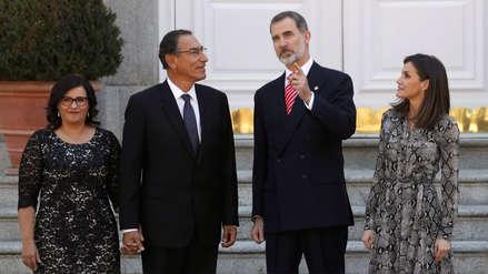 Así fue el encuentro entre Martín Vizcarra y los reyes de España en el Palacio Real de Madrid [FOTOS]