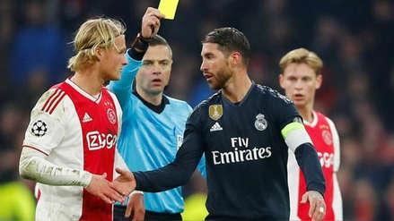 Sergio Ramos: UEFA lo sancionó con dos partidos por forzar amarilla ante el Ajax