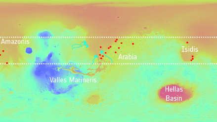 El subsuelo de Marte estuvo surcado por un sistema de lagos interconectados