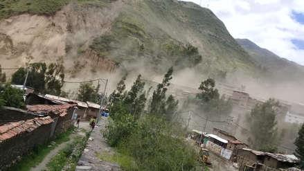 Áncash | Pobladores de Sihuas fueron evacuados tras derrumbe de cerro por lluvias