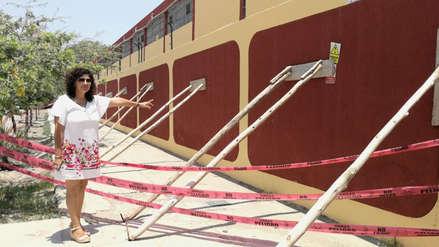 Chiclayo: Cerco perimétrico de colegio está a punto de colapsar