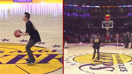 NBA | El fanático de Los Angeles Lakers que se ganó 100 mil dólares por este lanzamiento