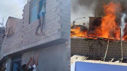Arequipa | Adolescente se salva de morir en incendio saliendo por la ventana de su casa en Camaná