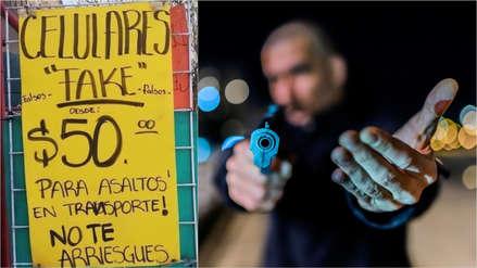Venden celulares 'fake' para entregar en caso de ser víctima de un asalto en México