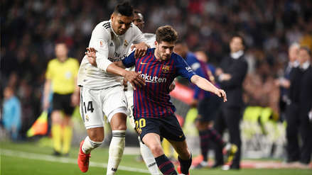 Real Madrid cayó 1-0 ante Barcelona y se aleja del título de LaLiga