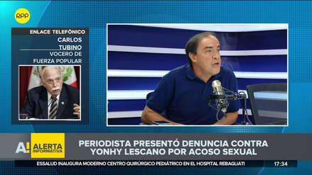 Tubino sobre denuncia contra Lescano: