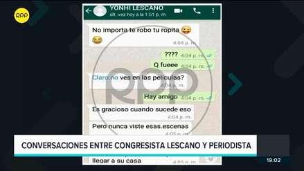 Se filtran nuevos chats del presunto acoso sexual de Yonhy Lescano a periodista