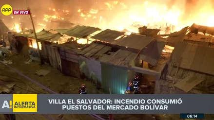 Un gran incendio consume cientos de puestos de mercado en Villa El Salvador [VIDEO]