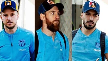 ¿Messi, Rakitic y Suárez son fans de Dragon Ball? Mira las prendas que usaron estos astros del Barcelona