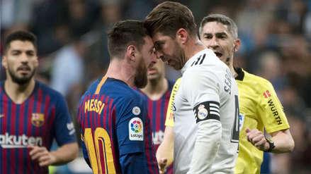 Sergio Ramos y Lionel Messi tuvieron este cruce durante el Real Madrid vs. Barcelona tras una manazo del defensa