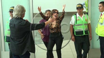 Susan Ochoa llegó a Lima:
