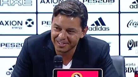 Marcelo Gallardo recordó el triunfo ante Boca Juniors en la final de Copa Libertadores y desató risas en su conferencia