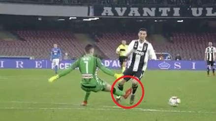 Juventus: Cristiano Ronaldo provocó polémica expulsión de arquero de Napoli
