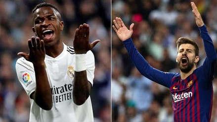 Real Madrid vs. Barcelona: Vinicius Junior llamó la atención a Piqué por provocar a hinchas merengues