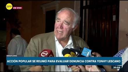 """García Belaunde: El fujimorismo está muy contento, """"les hemos dado carne a esos leones"""""""