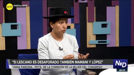 Pariona: Si hablamos de desafuero, se tendría que aplicar a Mamani, López Vilela y Ushñanua