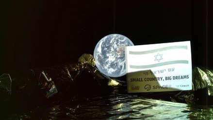 El módulo lunar israelí Bereshit mandó su primer selfi desde el espacio